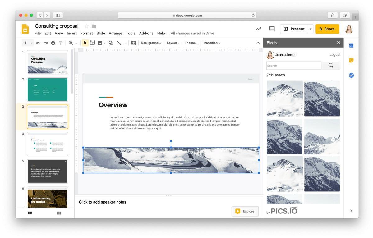 Pics.io G Suite integration