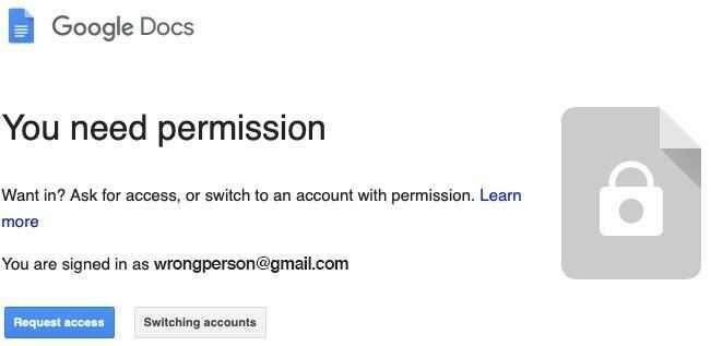 Google Drive inconvenient permission policy