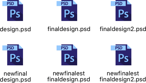 Files with similar names