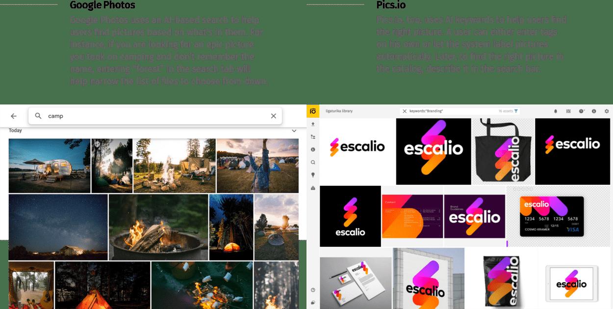 AI tagging Google Photos vs Pics.io