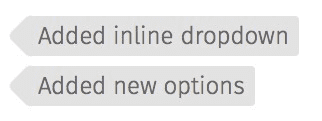 Added inline dropdown & added new options