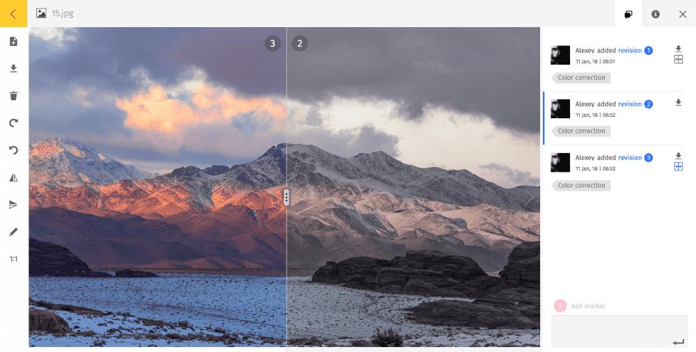 Version control in Pics.io