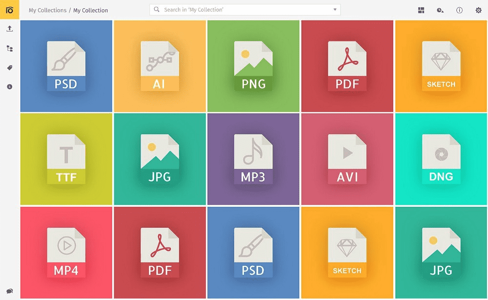 Supported file formats in Pics.io