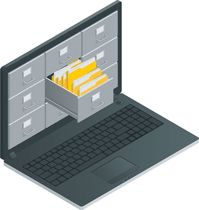 File folder on a laptop