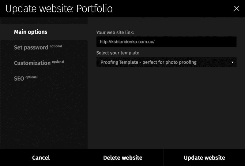 Update Website: Portfolio