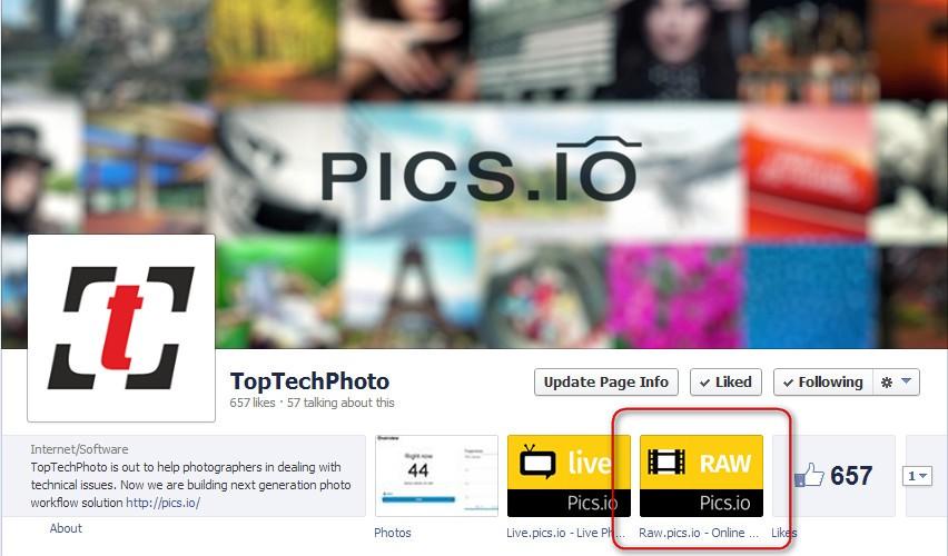 Facebook Pics.io