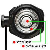 Strobe and continious light