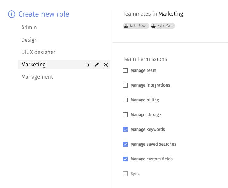 Create new roles