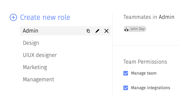 Create a new role