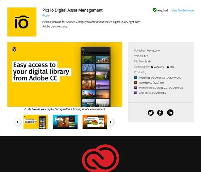 Pics.io and Adobe