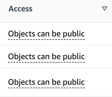 Check access to see whether your bucket is public or private