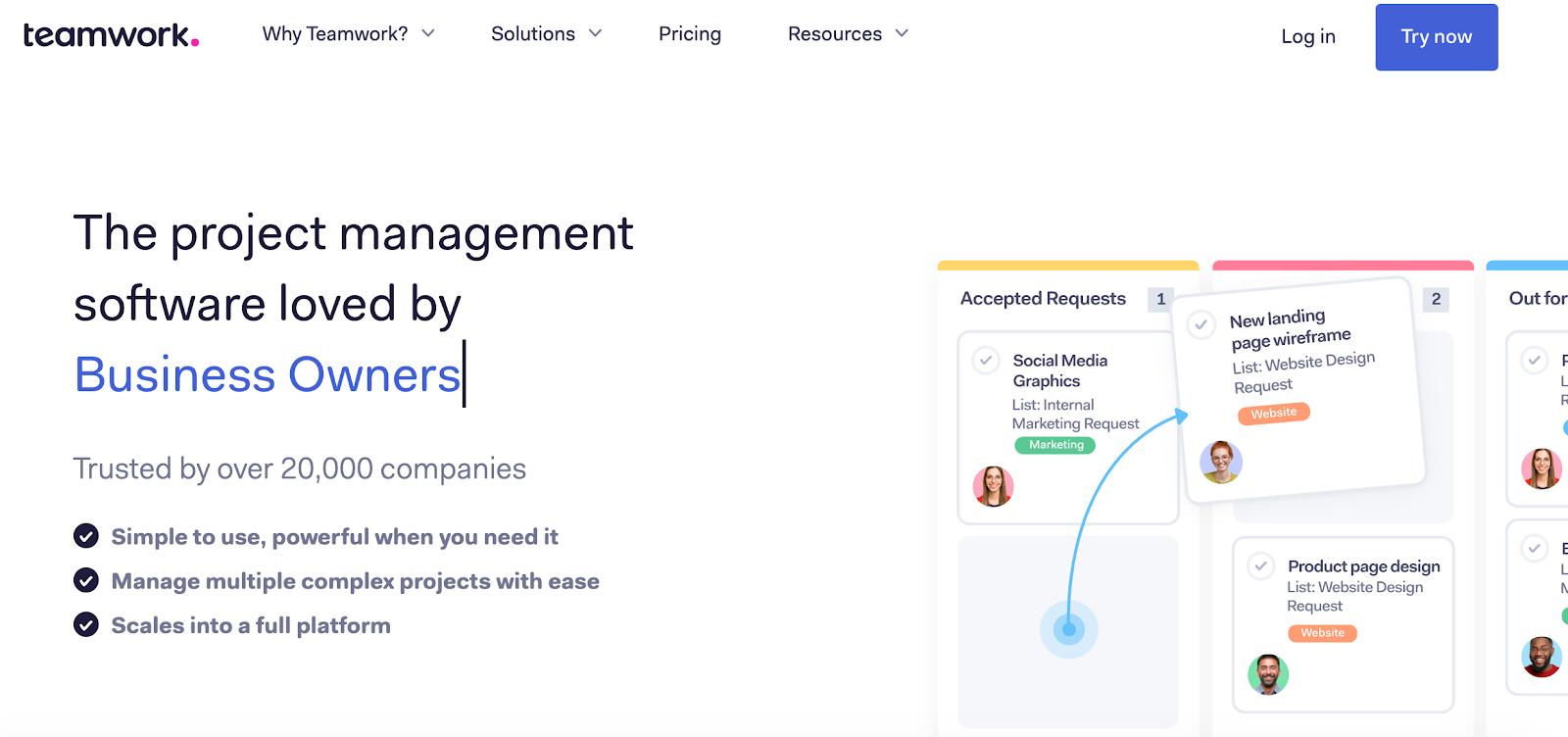 Teamwork interface