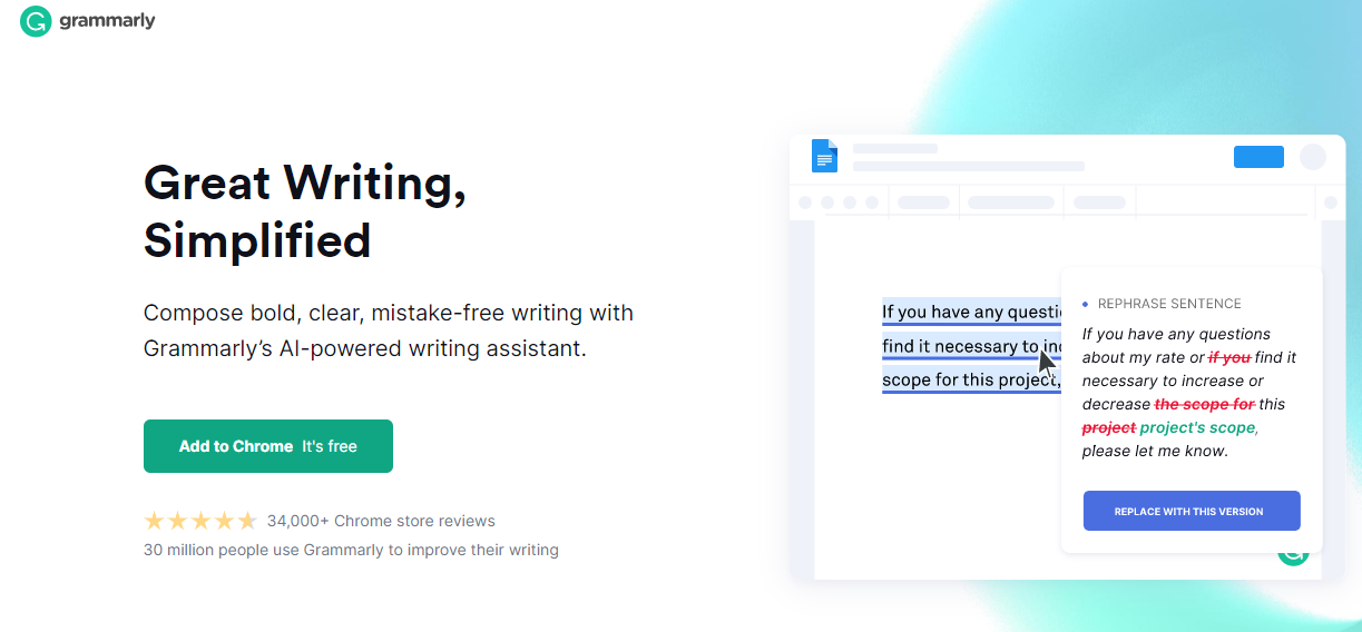 Grammarly interface