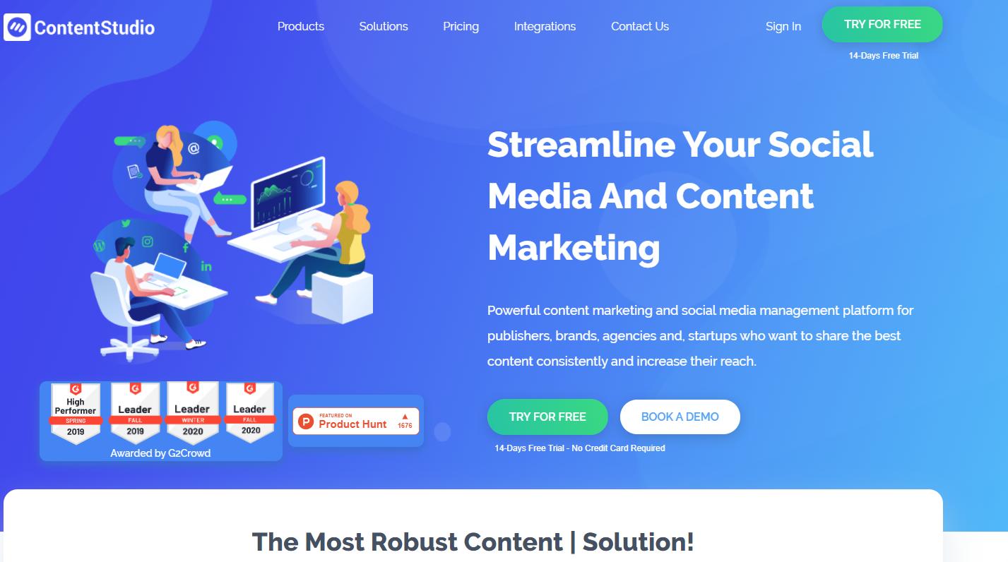 ContentStudio interface