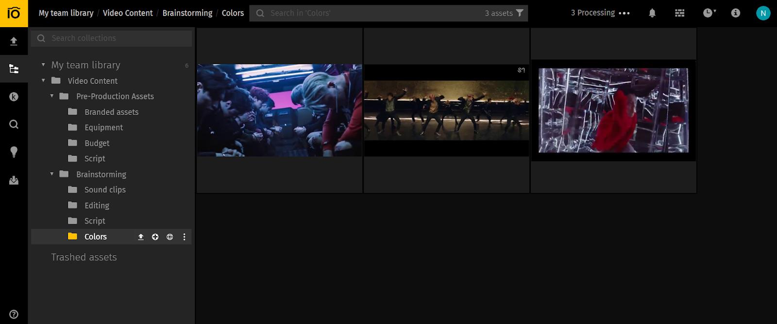 Pics.io video library