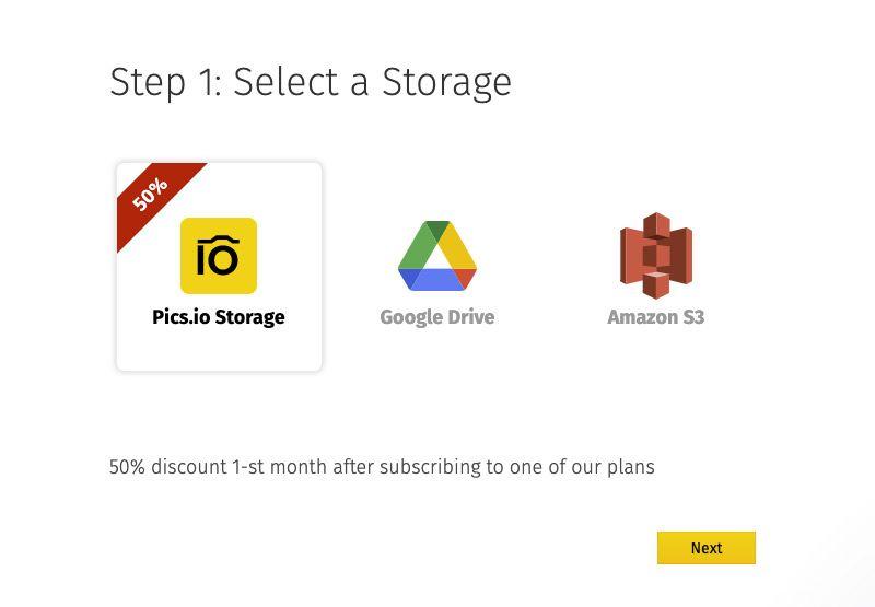 Choosing the storage