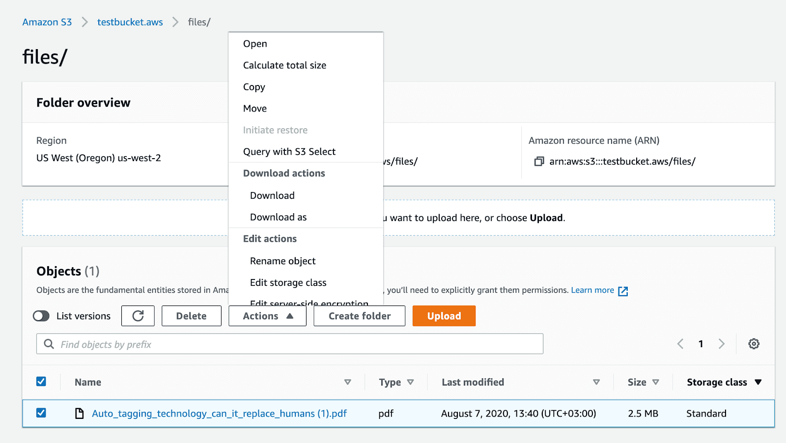 Downloading objects from Amazon S3
