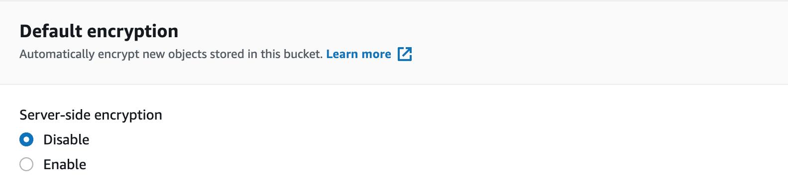 Default encryption in Amazon S3