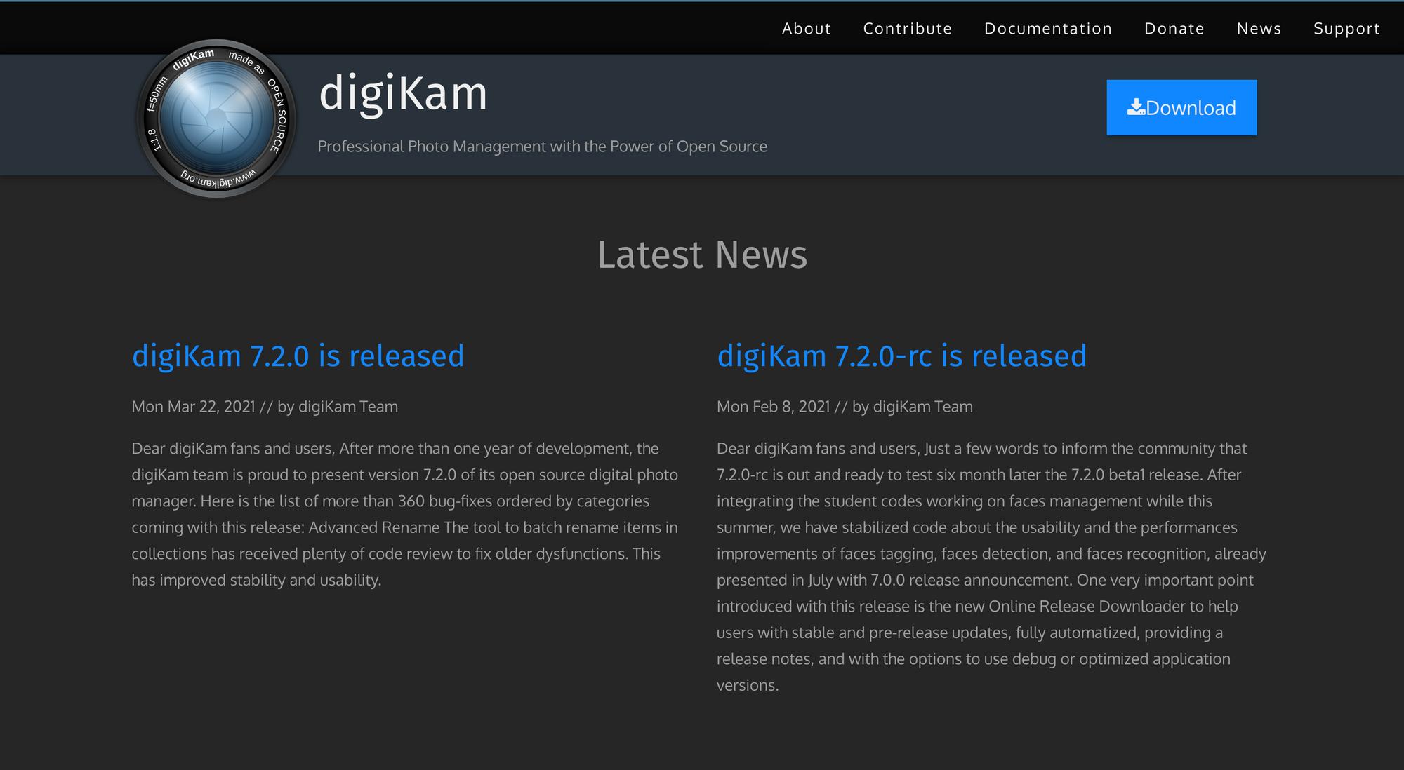 digiKam interface