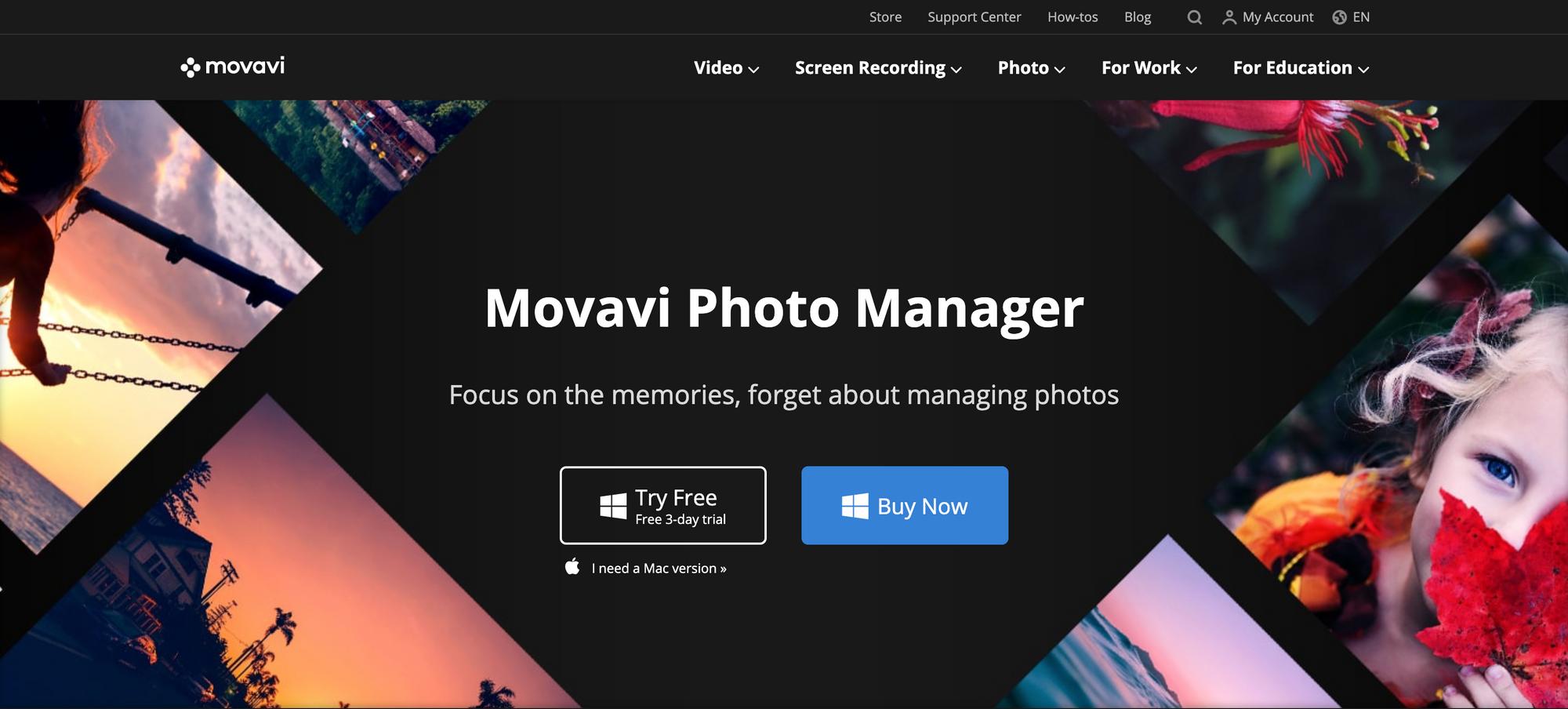 Movavi Photo Manager interface
