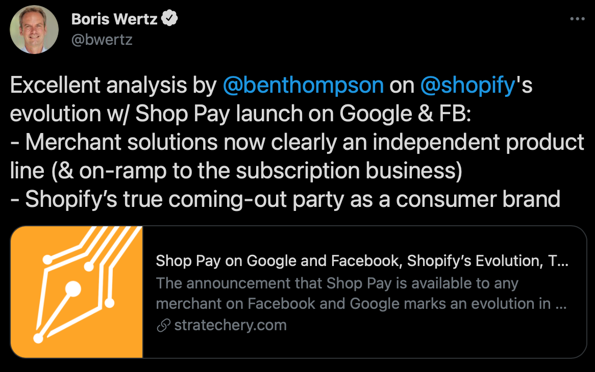 Shopify evolution